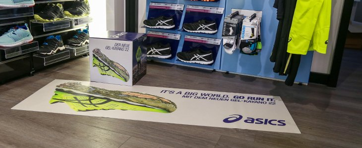 werbematte promobase asicsmatte am point of sale